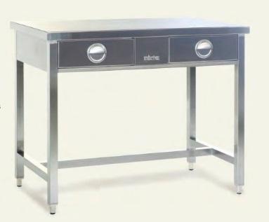 Медицинский стол с ящиками из нержавеющей стали - MCTC 1039