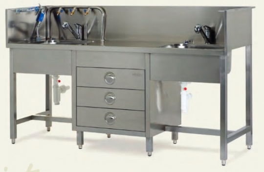 Мойка медицинская для мытья инструментов с водяным пистолетом MOYB 1051