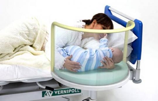 Кровать для новорожденных подвесная к кровати с матрасиком 24-PE130