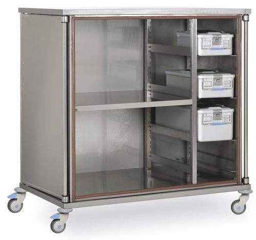 Медицинская тележка для стерильных изделий, корзин и контейнеров MSKT 1200