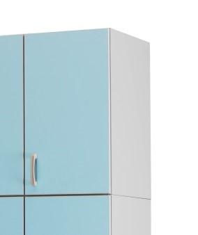 Медицинский палатный шкаф-антресоль с 1 отделением из биламината 13-FP184 (Вариант 1)