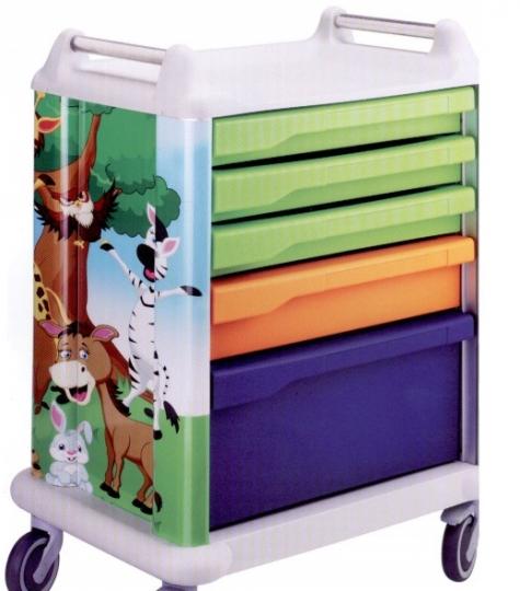 Медицинская функциональная тележка для детских отделений