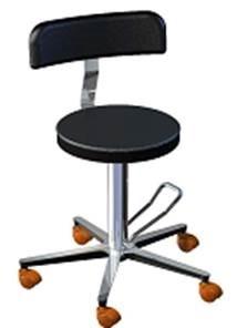 Лабораторный стул с анатомической формой спинки