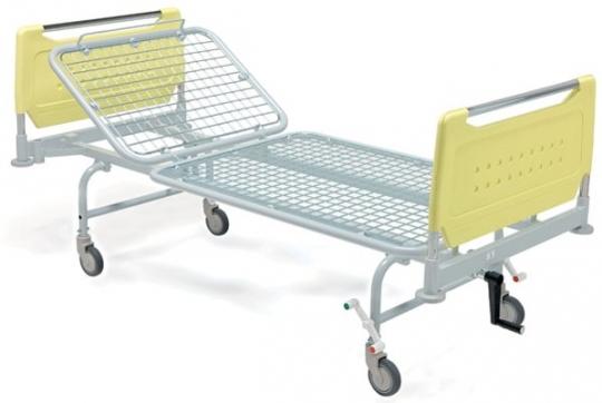 Кровать медицинская функциональная механическая на колесах 2-х секционная 11-CP123