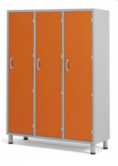 Шкаф медицинский для одежды с 3 отделениями из пластикового ламината 13-СР203