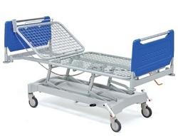 Медицинская двухсекционная металлическая кровать с регулируемой высотой ложа 11-CP189