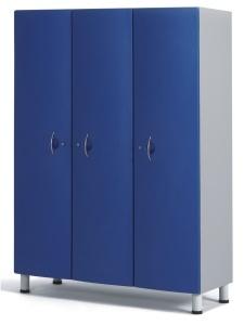 Медицинский шкаф для одежды с тремя отделениями из технополимеров 13-СТ193