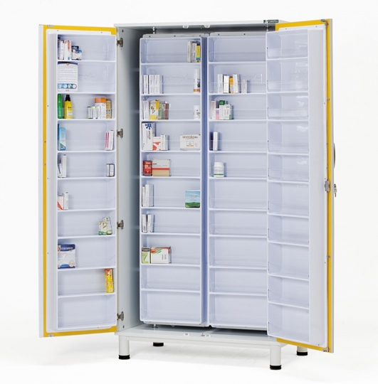 Медицинский шкаф для лекарств и медикаментов аптечный металлический 13-FP801